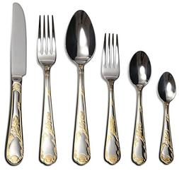 Venezia Collection 'Beads' 75-Pc Luxury Flatware Set 18/10 S