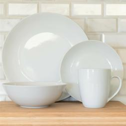 white porcelain 32 piece coupe dinnerware service
